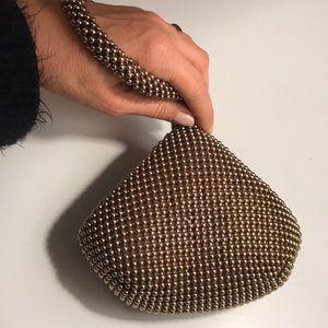 Handbags - CLOSET CLEARANCE Gold Metal Ball Wristlet